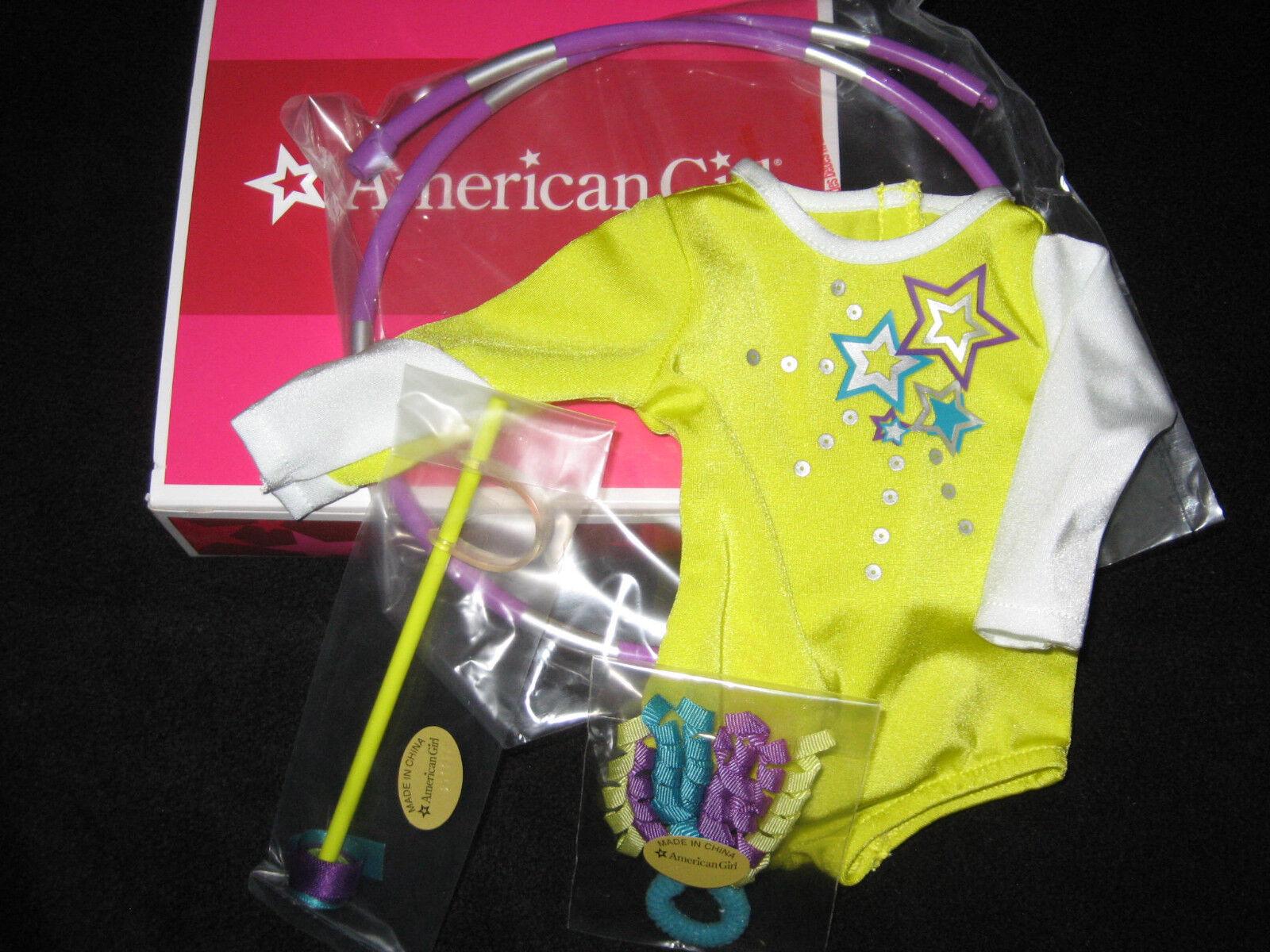 American Girl Doll McKenna's PERFORMANCE SET Hoop LEOTARD Hoop GYMNASTICS outfit