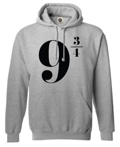9 3//4 NOVE tre quarti Harry Potter magia regalo alla moda unisex Pullover con Cappuccio