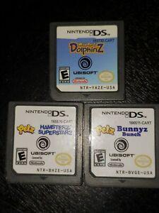 Lot-3-Nintendo-DS-Games-Petz-Bunnyz-Hampsterz-Dolphinz-excellent-condition