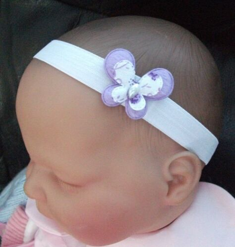 BABY//REBORN DOLL PEARL BUTTERFLY HEADBAND VARIOUS COLOUR /& SIZES