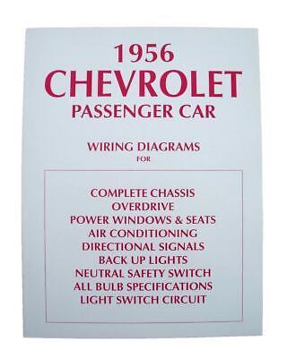 56 Chevy Wiring Diagram 1956 Chevrolet New Ebay