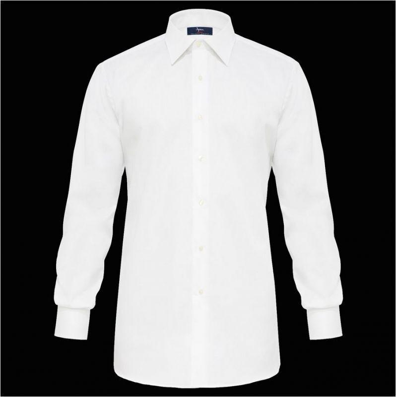 Camicia Weiß Ingram collo classico italiano puro cotone No Stiro taglia 49-4XL