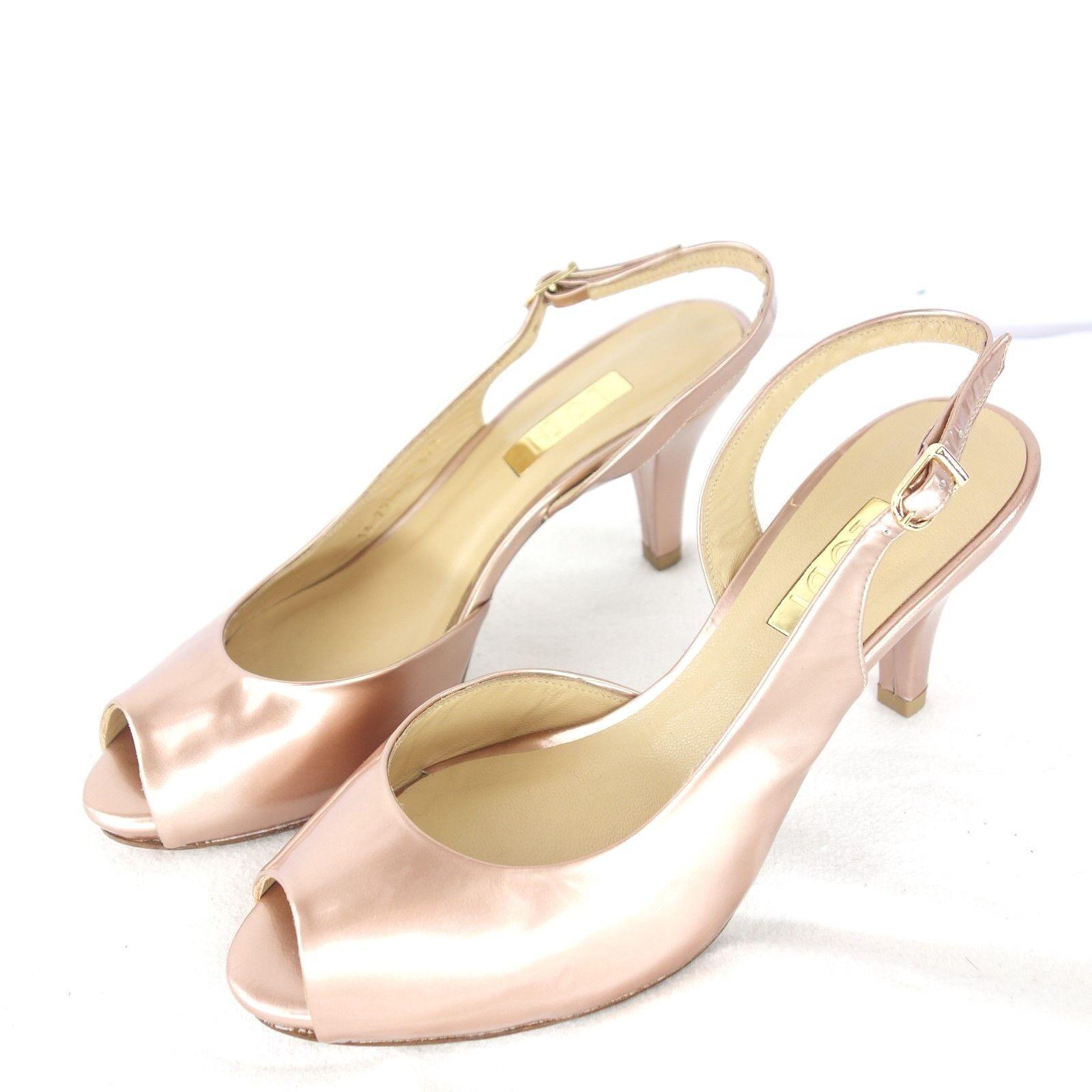 Lodi Scarpe Donna Décolleté Spuntate Metallizzato Lucido pelle rosa Elegante Np | In Uso Durevole  | Uomo/Donne Scarpa