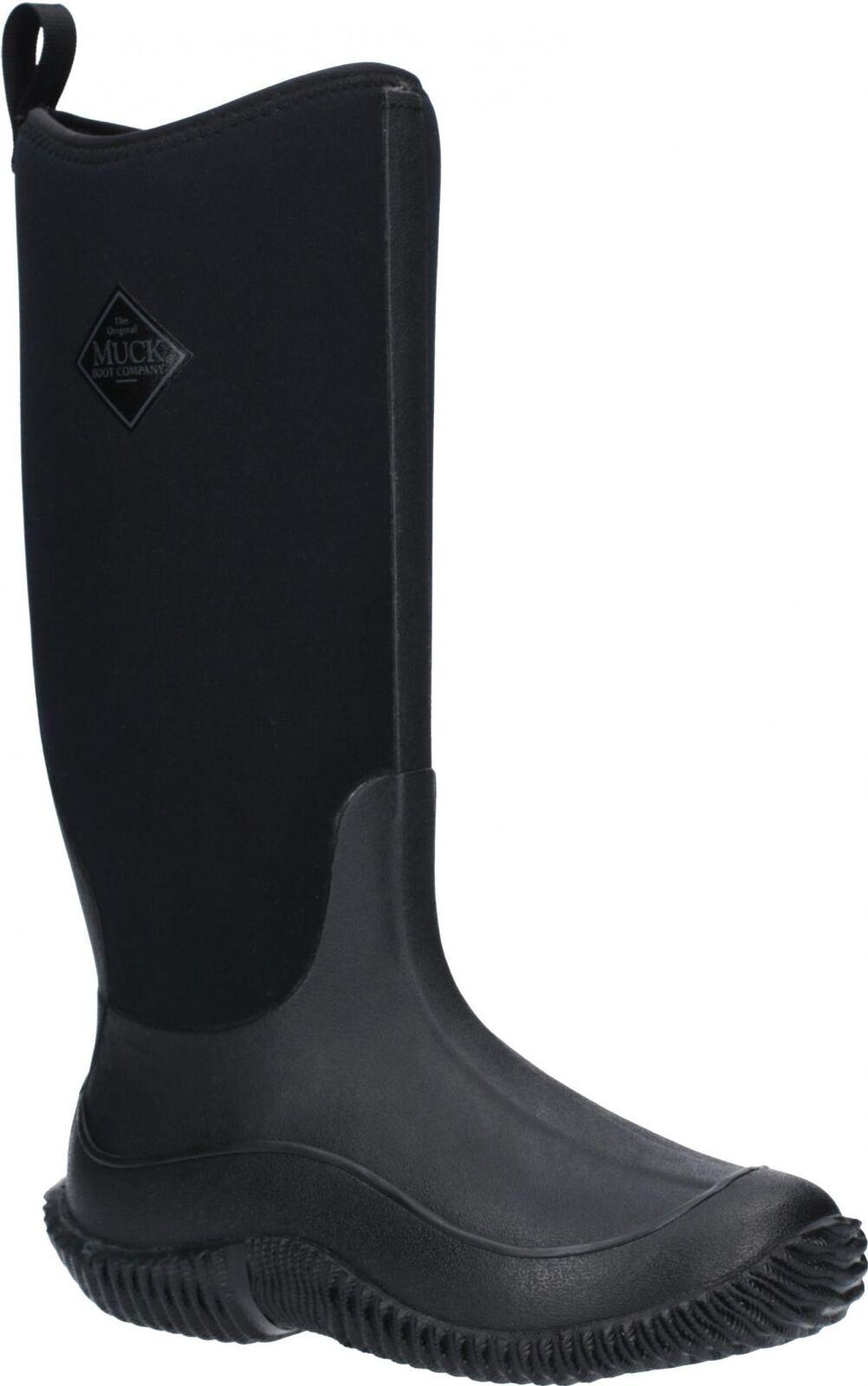 Muck botas Hale Señoras Para Mujer Neopreno Negro Goma Alto Wellington botas De Lluvia Negro Neopreno 73bd37