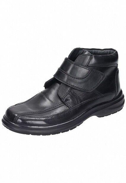Comfortabel Uomo Scarpe Stivali Stivali lette Velcro Boots 670499 Pelle Nero