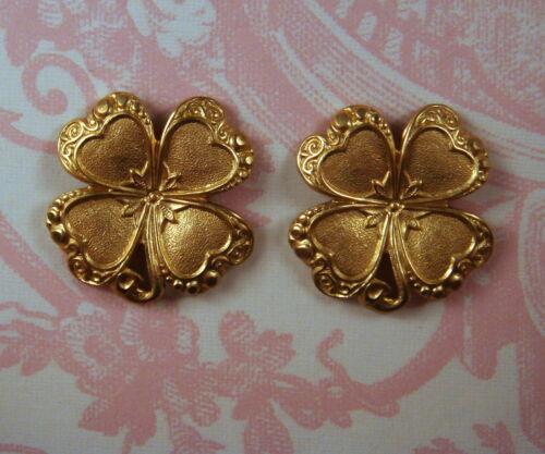 Raw Brass Shamrocks RAT3730 Jewelry Finding 2