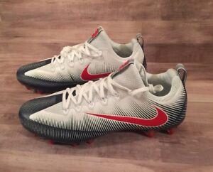 Image is loading Nike-Vapor-Untouchable-Pro-Football-Cleats-White-Blue-