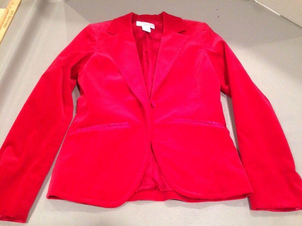 Women's 4 Marshall Field's Red Velvet Blazer - image 10