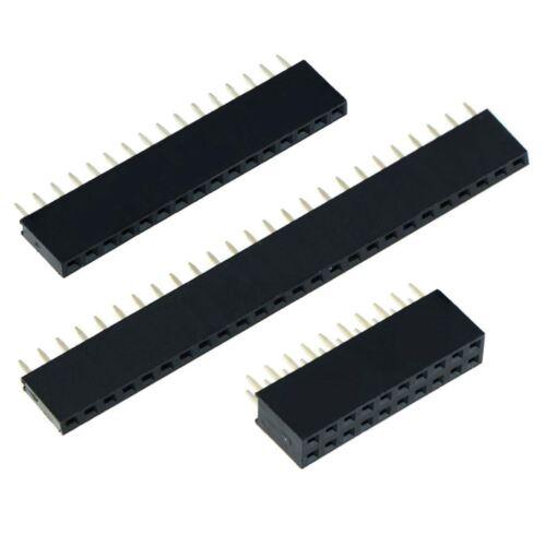 """2.54mm 0.1/"""" Socket vertical del encabezado de PCB-Individual Doble Fila"""