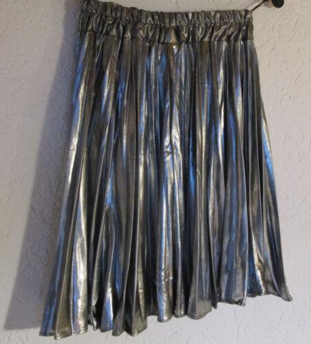 36 party Damen Faltenrock fest Plissee Tellerock Grösse 38 rock Metalic silber RRzfIZqn