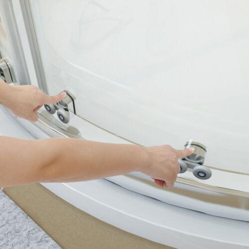 Duschkabine Runddusche Viertelkreis Duschabtrennung Dusche Glaswand ESG Glas