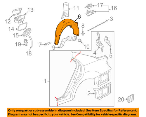 Mercedes MERCEDES-BENZ OEM S550 Rear Fender-Liner Splash Shield Right 2216901930