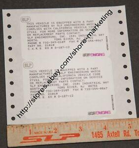 SLP-CARB-California-EO-Decal-for-SLP-1990-92-Camaro-Firebird-Cold-Air-Induction