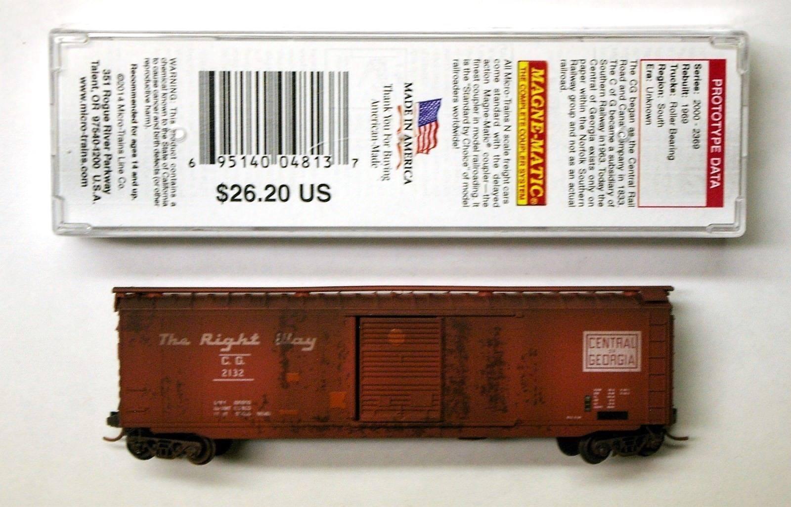bellissimo MTL Micro-i Micro-i Micro-i treni 31450 Central of Georgia CG 2132 FW Factory Weatherosso  confortevole