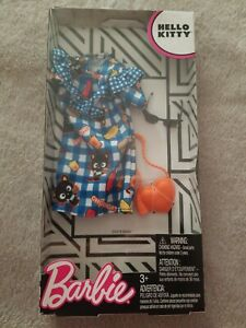 Barbie Hello Kitty Deluxe Fashion Pack Blue Chococat Dress and Accessories New