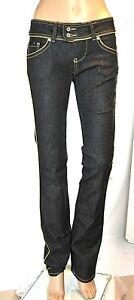 Jeans Donna Pantaloni MET Made in Italy Gamba Dritta Nero CA19 Tg 24 28 29