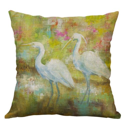 COCONUT BEACH Printing Cotton Linen taies d/'oreiller Housse de coussin Home Decor