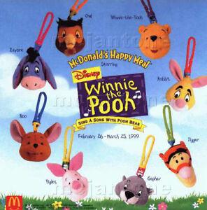 Rabbit #2 1999 Winnie The Pooh McDonalds Plush Clip