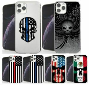 Punisher Skull American Flag Police Thin Blue Line iphone case
