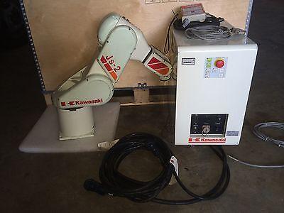 Kawasaki JS-2 Robot arm with controller and tech