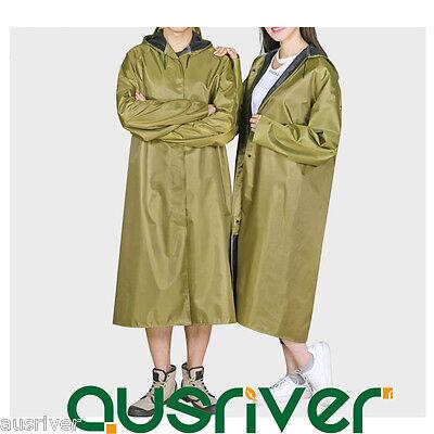 Dashing Thick Unisex Long Rain Coat Raincoat Overcoat Outdoor Cycling Motorcycle Green