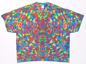 2f78daf3 Adult S/S TIE DYE Neon Rainbow Blotter plus size T Shirt art 5X 6X ...