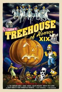 Halloween Simpsons Treehouse Of Horror.Details About The Simpsons Treehouse Of Horror Xix Pumpkin Halloween Horror Fine Art Giclee