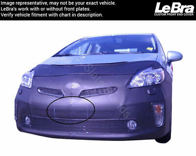 Lebra 2 piece Front End Cover Black TOYOTA PRIUS V Model 2012-2013 Without Headlamp Washers Car Mask Bra Fits