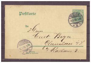 Deutsches-Reich-Ganzsache-P-73-Weida-nach-Glauchau-09-01-1908