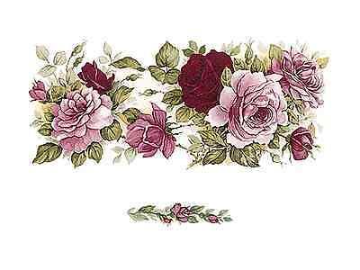 "Waterslide Ceramic Decals Bx 20mm 16 Sweet Pink Dot Rose Roses Flower 3//4/"""