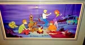 Hanna Barbera Cel A Clue For Scooby Doo Rare Signed Animation Art Edition Cell