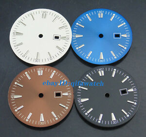 35mm-Sterile-dial-Fit-Mingzhu-2813-3804-movement-Men-039-s-Watch-case-Dial-P427