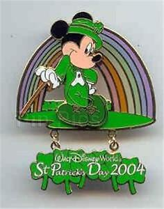 leprechaun mickey mouse rainbow st patrick s day 2004 dangle le
