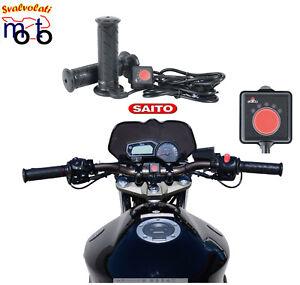 Manopole Riscaldate Heat Grip SAITO universali per Moto e Scooter - Manubio 22mm