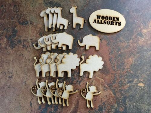 Zoo formas animales de Madera 3mm Mdf 20 Formas Variadas