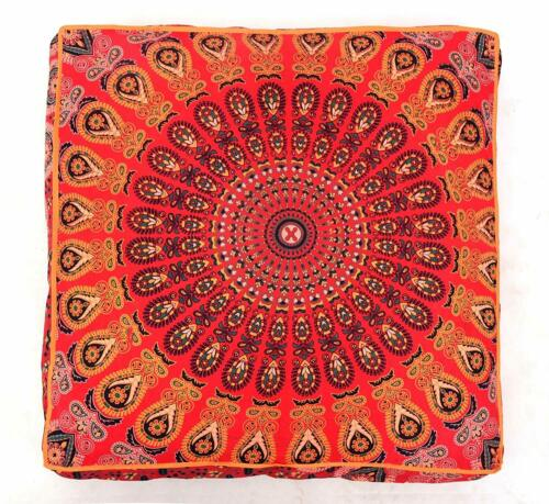 Large Hippie Floral Mandala Floor Pillow Cover Cushion Cover Pouf Fancy Cover