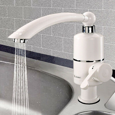 Instant Electric Hot Water Kitchen Basin Swivel Tap Cold&Hot Water Sink Faucet