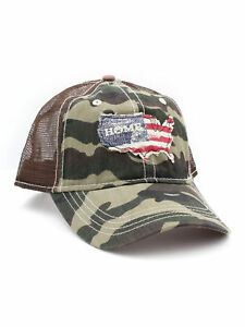 6383c2e0c1b Image is loading H3-Headwear-USA-Home-Camo-Mesh-Trucker-Adjustable-
