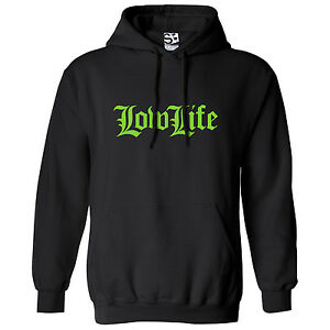 Low Life Old English HOODIE - Hooded Lowrider Sweatshirt w/ All Car Club Colors