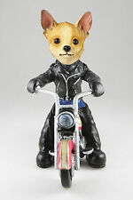 MOTORCYCLE CHIHUAHUA TAN WHT SEE ALL BREEDS & BODIES @ EBAY STORE