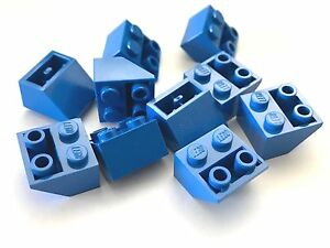 New LEGO Lot of 12 Blue 2x2 Inverted Slope Pieces