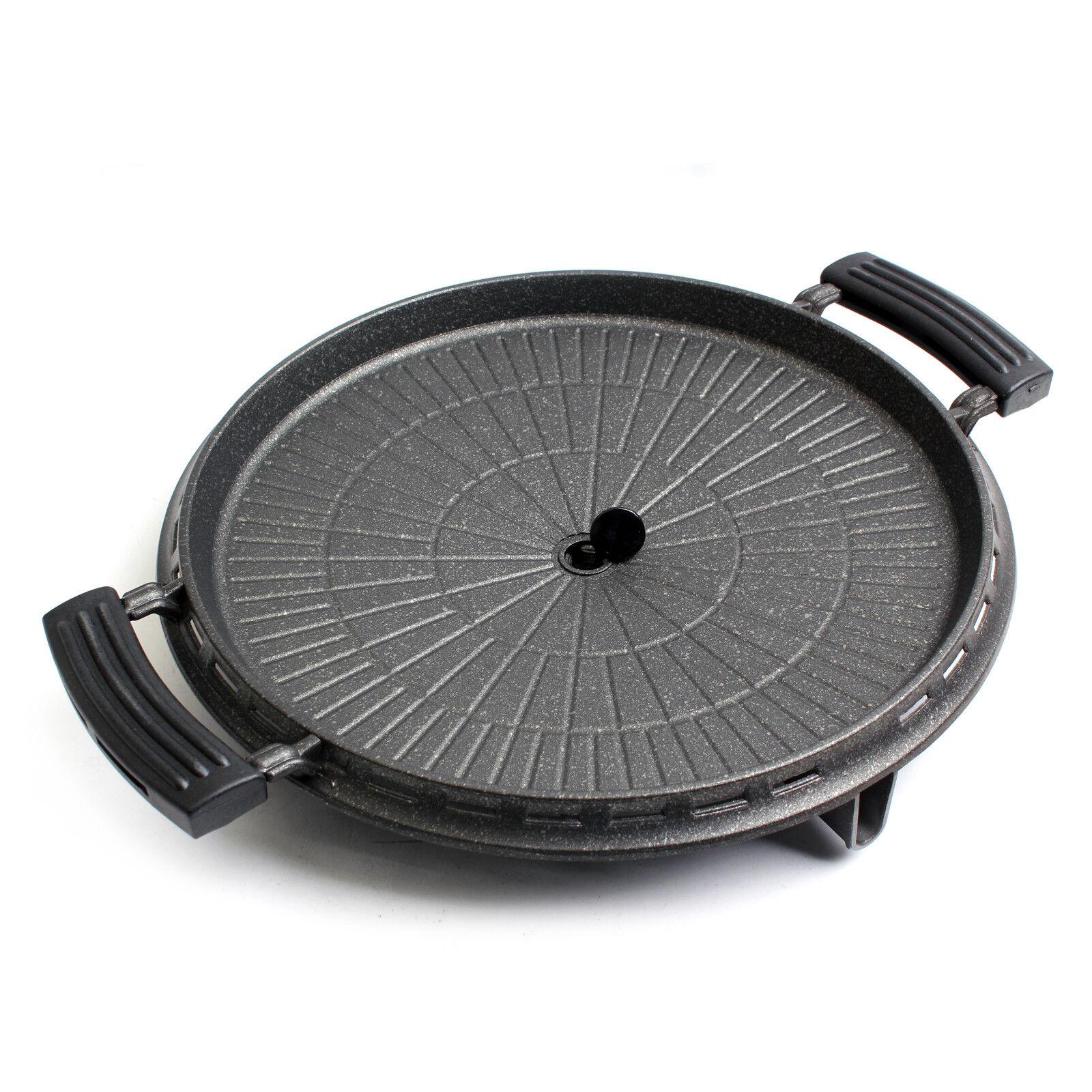 BBQ Grill Ribs Pork Belly Grill Pan Round Aluminum Round Pan 35cm KOREA 0d0410