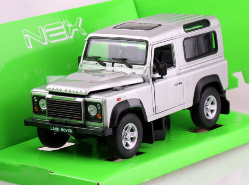 Land Rover Defender siber 1:24 Welly  Modellauto 22498