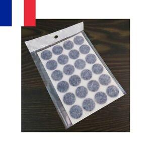 Lot de 24 Patins en Feutre Adhésif Protection Meuble Sol Rond 20 mm
