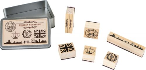 Stempel-Set London; Tower Bridge, Union Jack