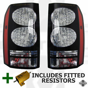 Land Rover Discovery 4 Black LED 2014 Rear Light Tail Lamps Conversion Upgrade 3