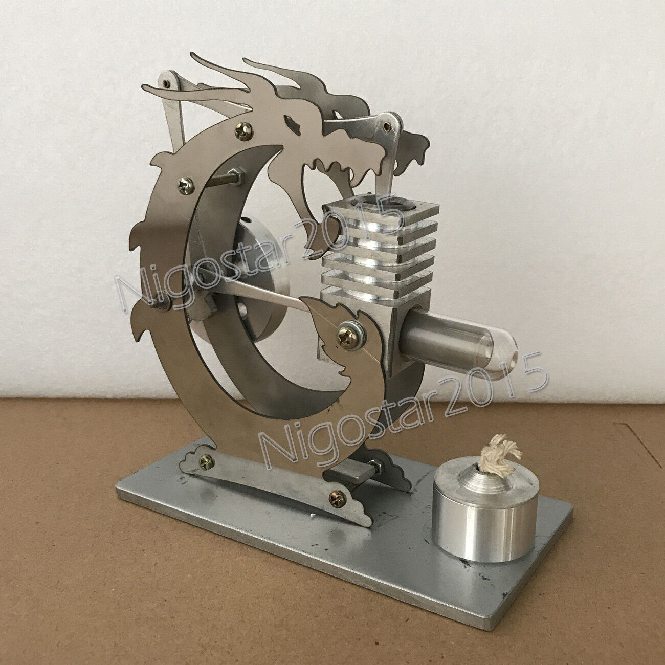 New Powerful Stirling Engine Model Toy Hot Air Engine Motor Metal Decoration Toy