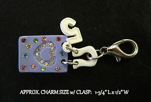 Purple-Handbag-Purse-5-Charm-Cell-Phone-OR-Clasp-LAST-ONE