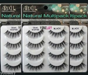 8df8db6371d Lot 12 Pairs ARDELL Demi Wispies Natural Multipack False Eyelashes ...