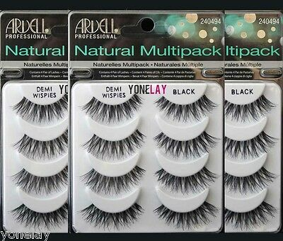 Lot 12 Pairs ARDELL Demi Wispies Natural Multipack False Eyelashes Fake Lashes